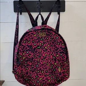 NWOT LUV BETSEY PINK/ MULTI COLOR LEOPARD BACKPACK